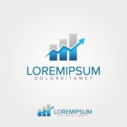 Plantilla de logotipo de finanzas de negocios