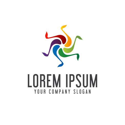 Kunst-Unterhaltung Musik-Logo-Design-Konzept-Vorlage
