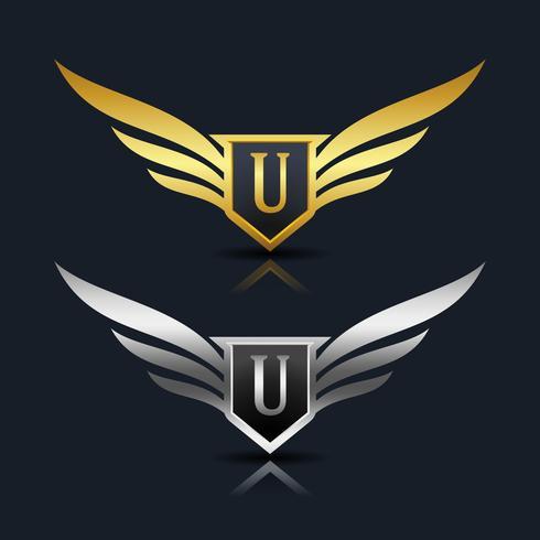 Logo dell'emblema della lettera U.