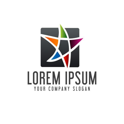 Onderwijs Star logo ontwerpsjabloon concept
