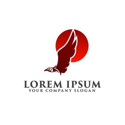modelo de conceito de design de logotipo águia sol