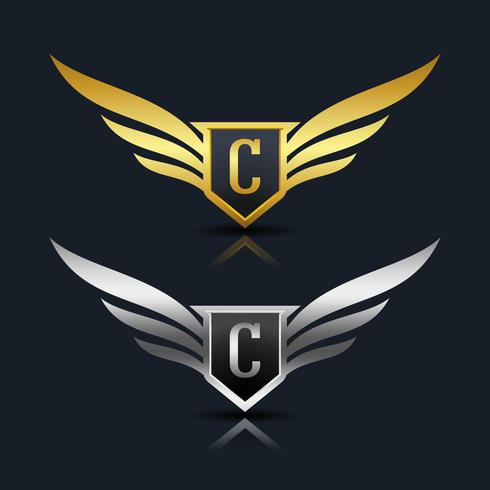 Logotipo de la letra C del emblema