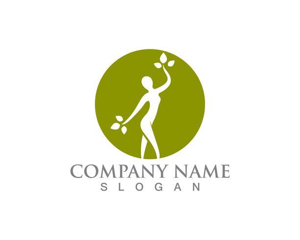 Salon kvinna logo och symboler