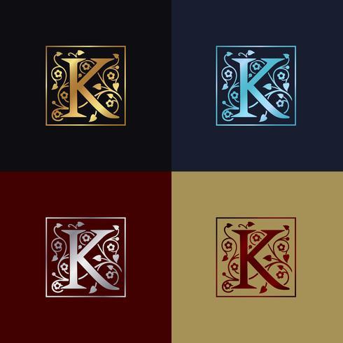 Letter K Decorative Logo