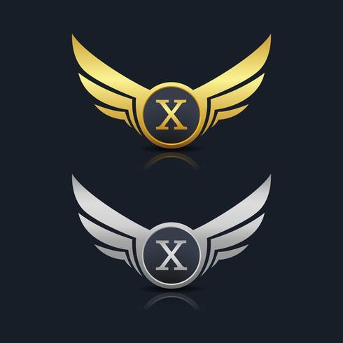 Logo dell'emblema della lettera X.