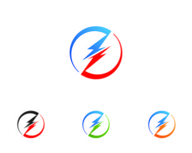 logotipo de ícone de relâmpago e símbolo