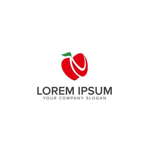 Icône de sourire sourire, modèle de concept de design logo fruits