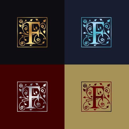 Logo décoratif lettre F