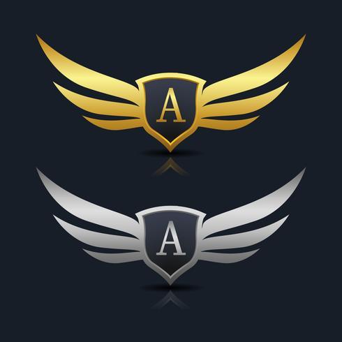 Buchstabe A Emblem Logo