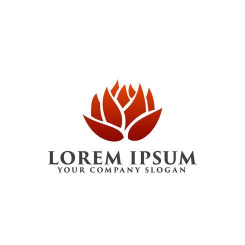 logotipo da flor. Ambiental e verde paisagismo logotipo design con vetor