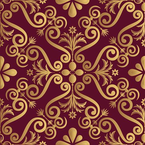 Disegno ornamentale modello luxery, colore dorato su sfondo nero