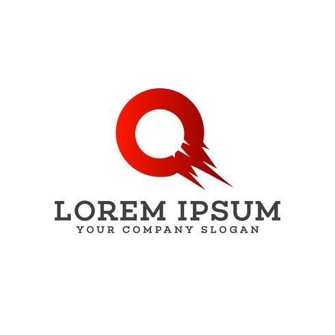 letter O logo. fast logo design concept template