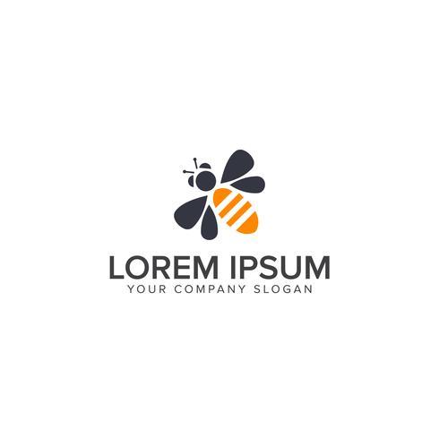 Modèle de vecteur de conception abeille Logo