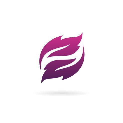 letter z blad logo ontwerpsjabloon concept