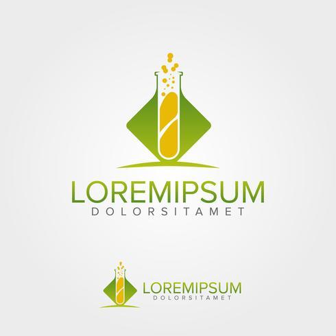 Modèle de conception de logo Green Lab