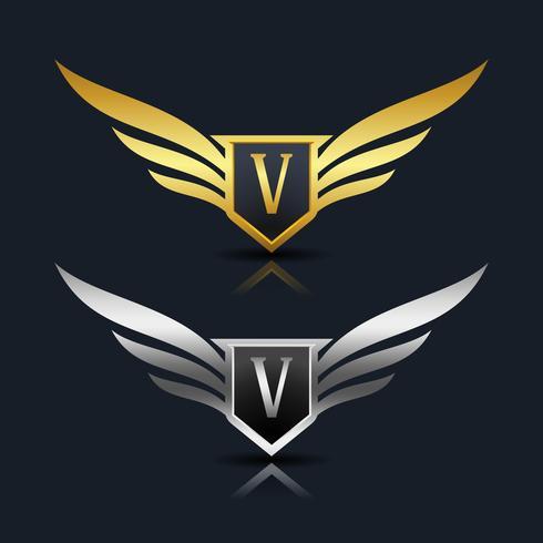 Letter V emblem Logo