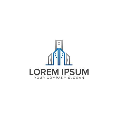 Modèle de concept de design immobilier logo vectoriel Symbole