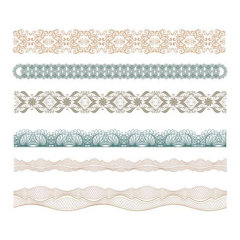 guilhoché bordas decorativas conjunto