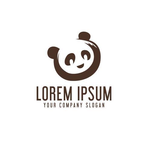 modèle de concept de conception de logo panda