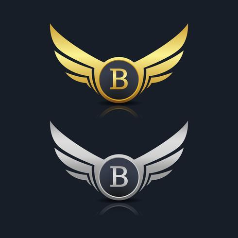 Letter B emblem Logo vector