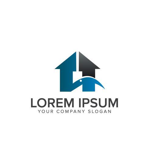 immobiliare Modello di concetto di design logo di costruzione