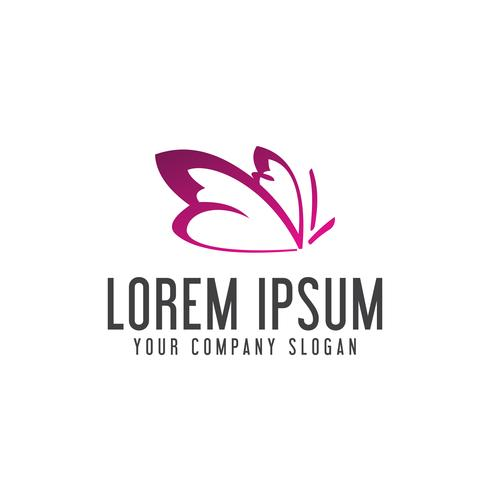 Plantilla de concepto de diseño de logotipo de Spa Logos mariposa vector