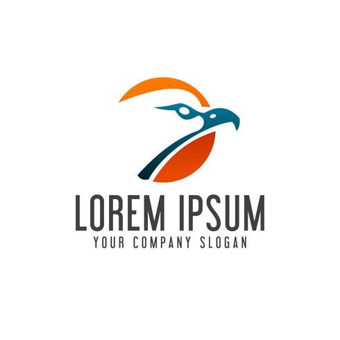 modelo de conceito de design de logotipo de cabeça de águia