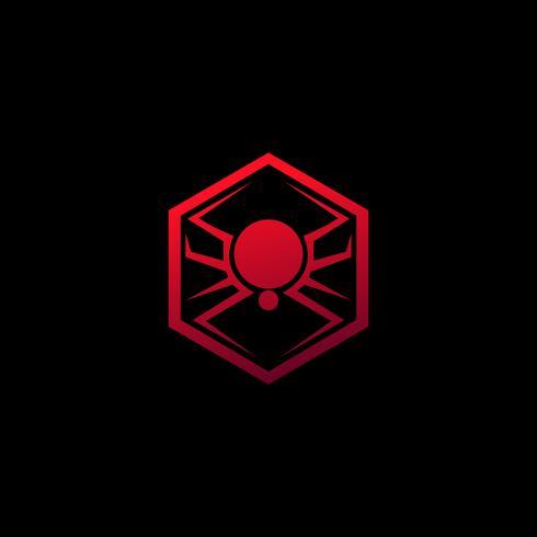 spindel emblem logotyp. djur logotyp design koncept mall