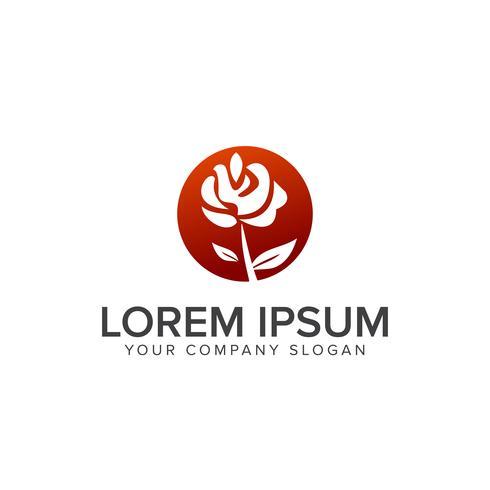 Modèle de concept de design de logo de l'aménagement paysager vecteur