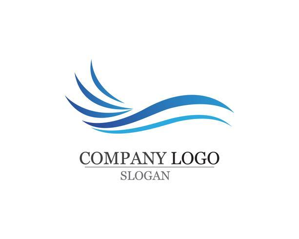 Waves beach logo et symboles modèle icônes app vecteur