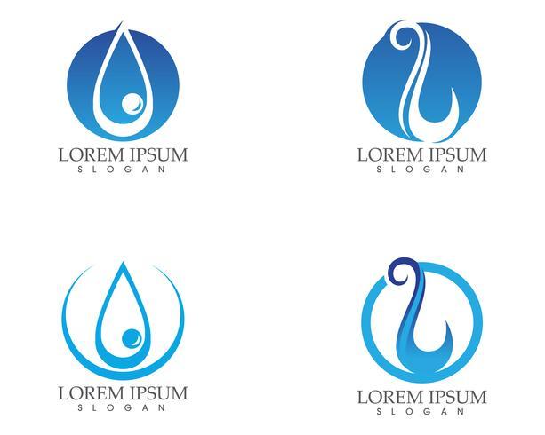 Goutte d'eau logo nature et symboles modèle app icônes ..