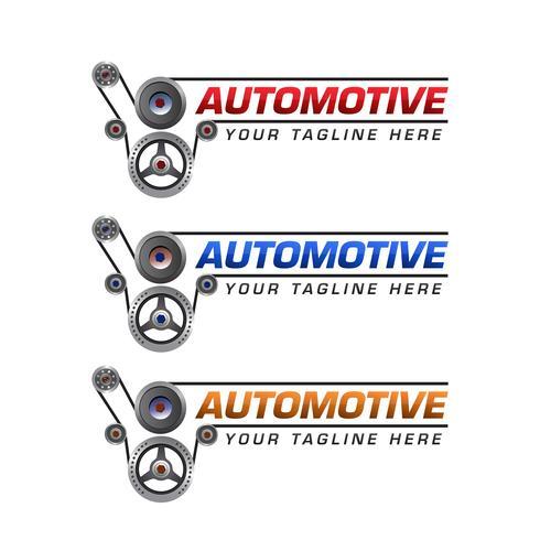 Design de modelo de logotipo automotivo