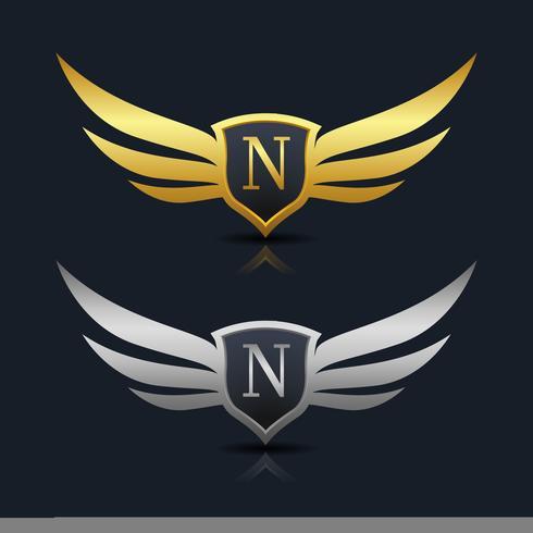Buchstabe N Emblem Logo