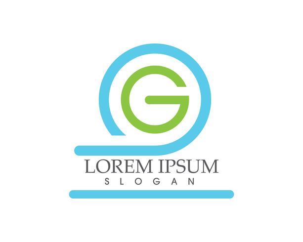 G logo en symbolen sjabloon pictogrammen app letters ,,