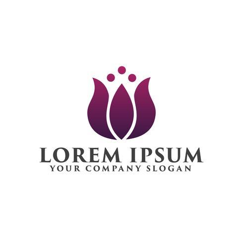 bloem logo. Cosmetica en schoonheid logo ontwerpsjabloon concept