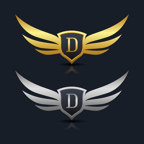 Logotipo de la letra D emblema