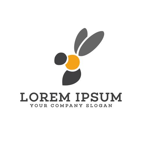bee logo ontwerpsjabloon concept