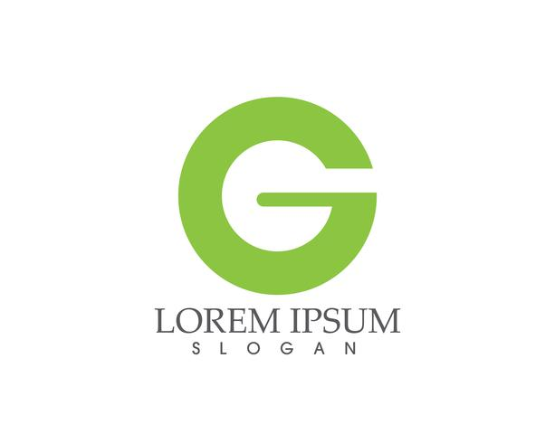 Letras de la aplicación de iconos de logotipo y símbolos de G,