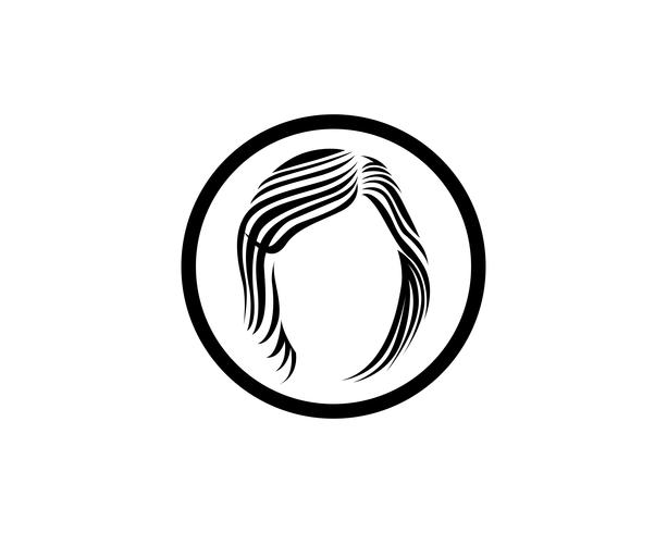 cheveux et logo femme et visage