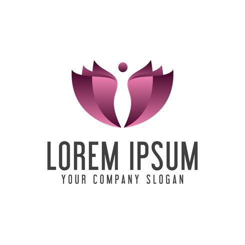 Modelo de conceito de design de logotipo Spa pessoas