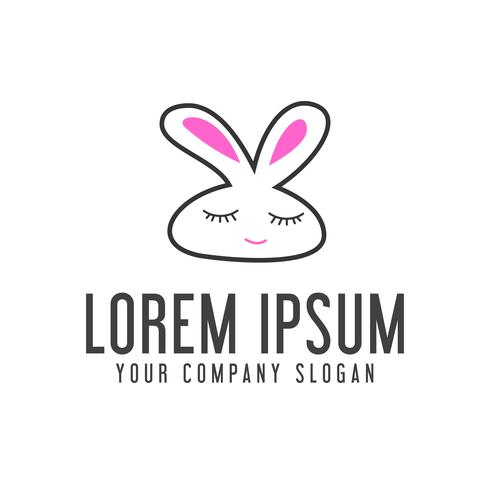 logo drôle de lapin. modèle de concept de logo animal logo