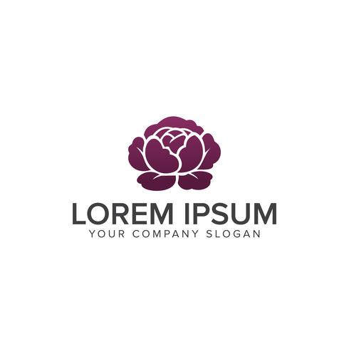 bloem logo. Spa en esthetiek logo ontwerpsjabloon concept