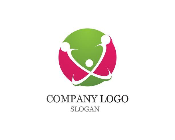 Modèle de logo et de symboles de soins communautaires