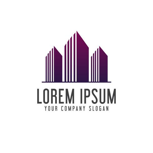 Architectural Construction building logo design concept template