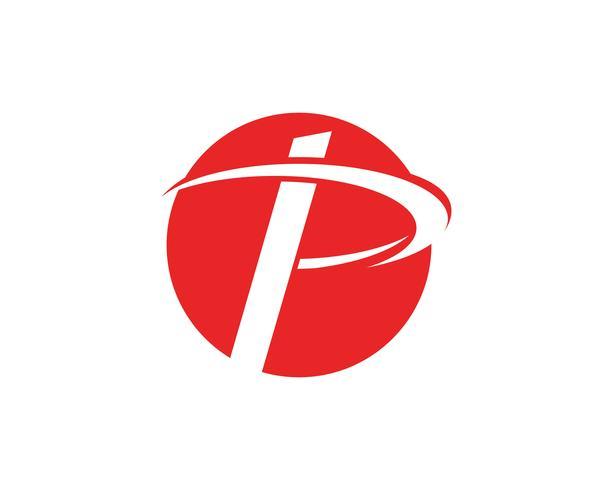 P logo brev Business corporate design vektor