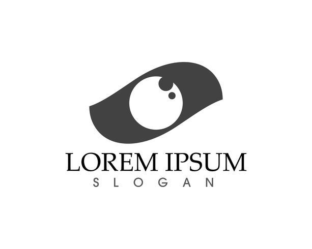 Logotipo do cuidado do olho e aplicativo de ícones de vetor de modelo de símbolos