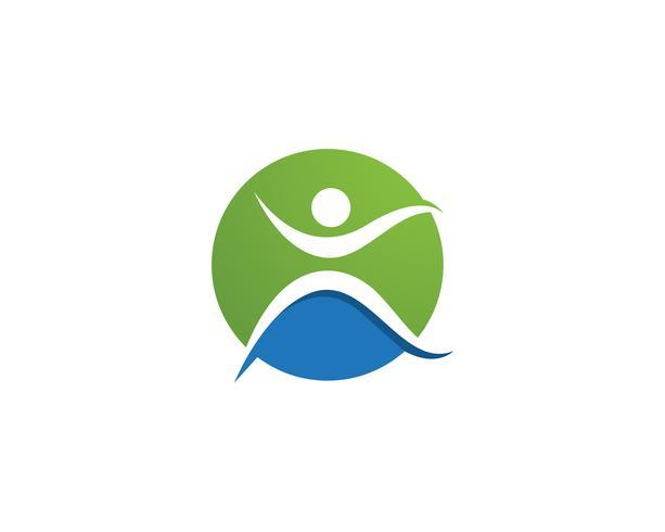 Modèle de logo et symboles santé nature personnes soins
