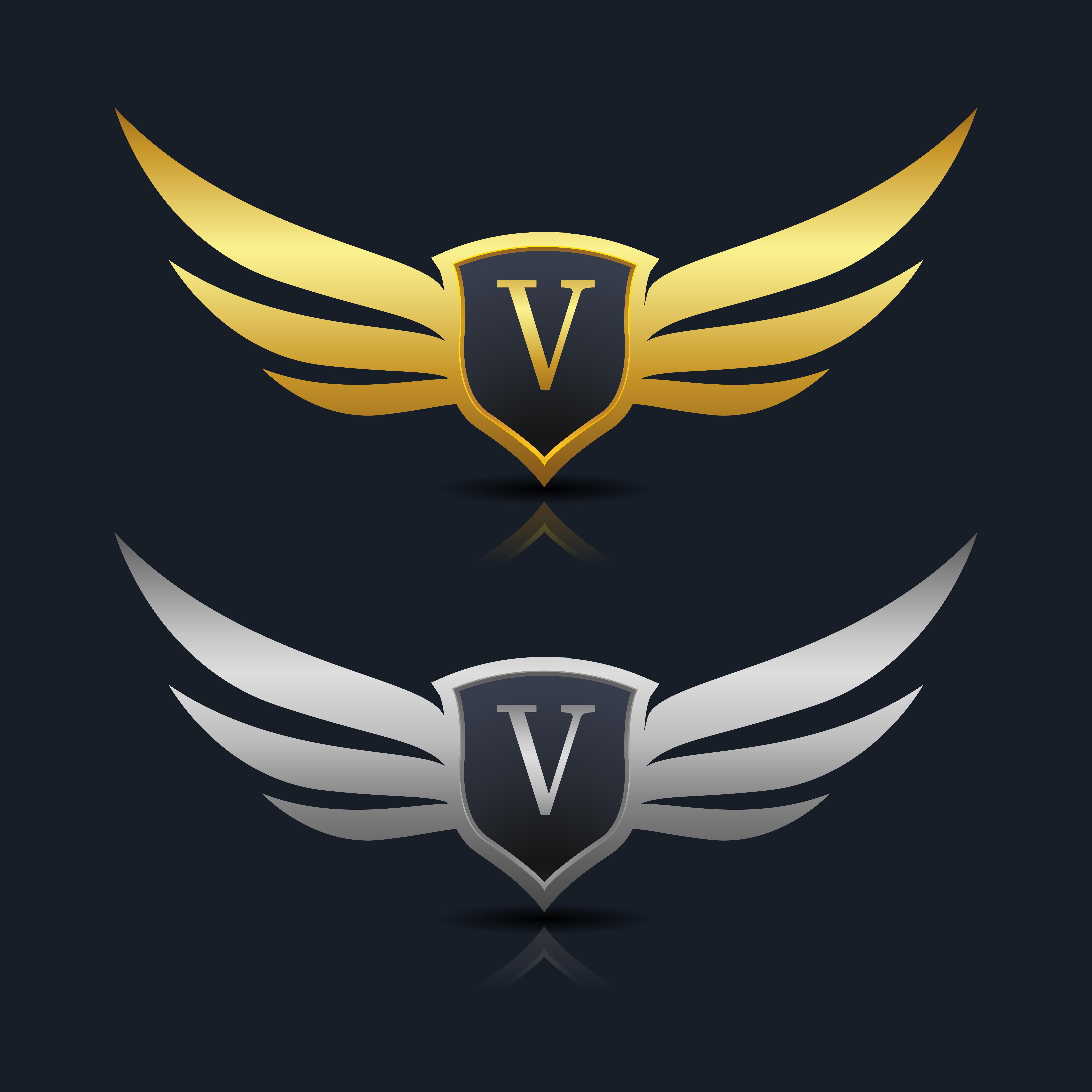 Letter V emblem Logo - Download Free Vectors, Clipart ...