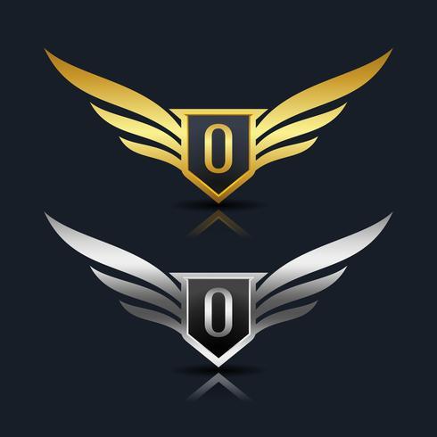 logotipo da letra o emblema