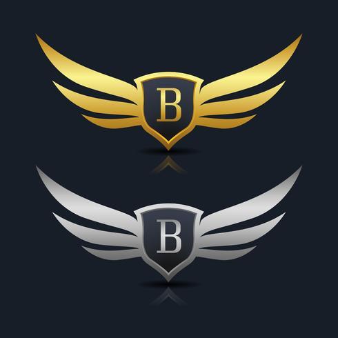 Logotipo del emblema de la letra B